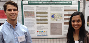 Student researchers present at conference
