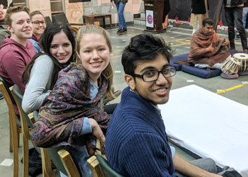 Students on India study abroad