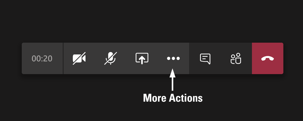 Select More Actions for the Control Task Bar