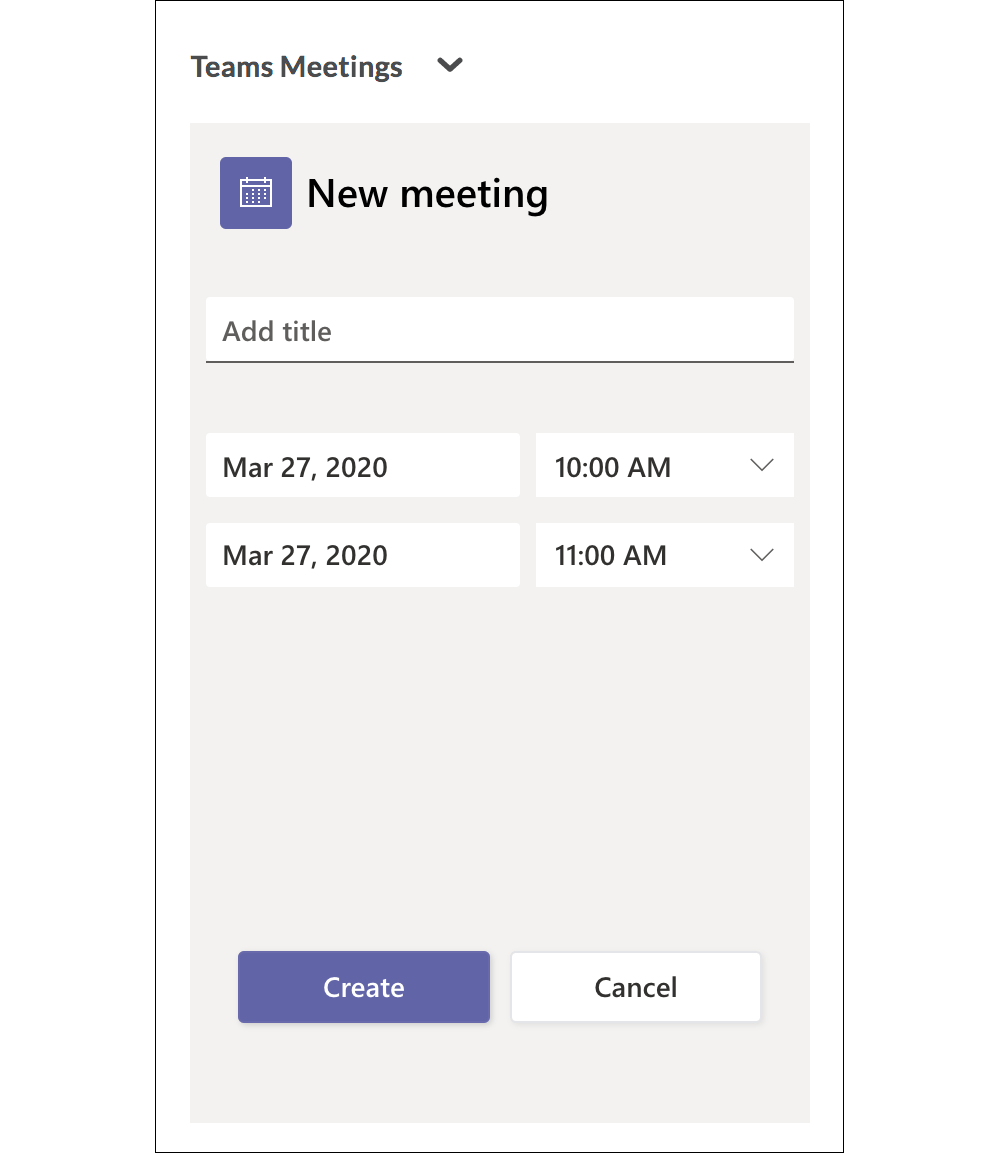 Add title and select dates and times