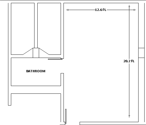 Mashuda Hall triple room floorplan