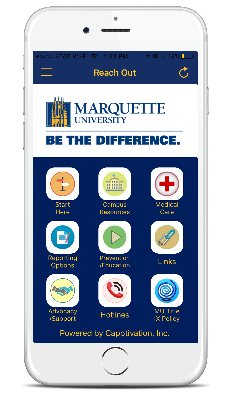 Image of Reach Out Marquette app