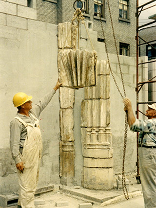 Construction of the St. Joan of Arc Chapel in 1965