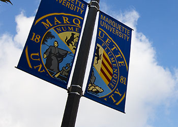 Marquette University banners along Wisconsin Avenue