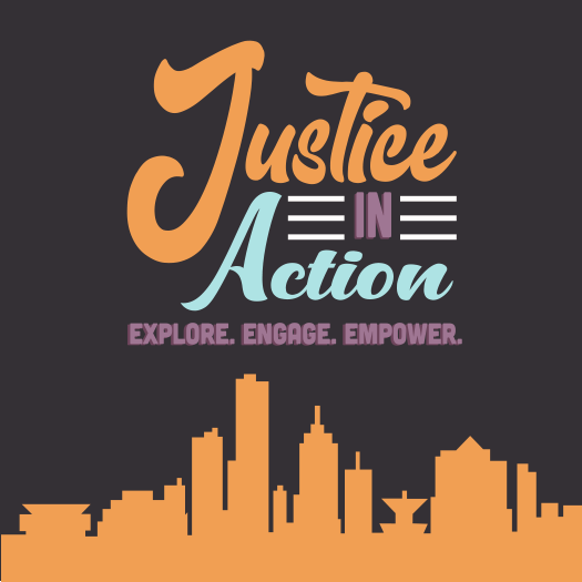 Justice in Action Conference graphic
