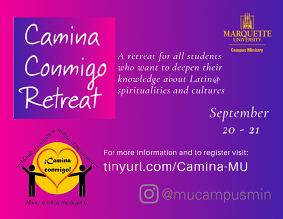 Camina Conmigo Retreat Flyer
