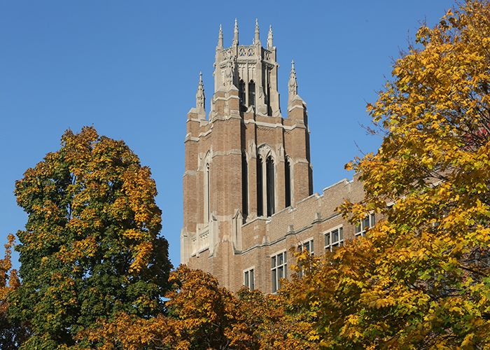 Marquette Hall in autumn
